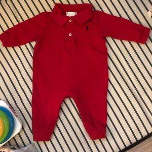 Ralph Lauren Red 1 piece pant set